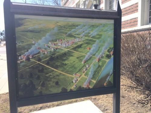 New Ulm on fire in the Dakota Wars