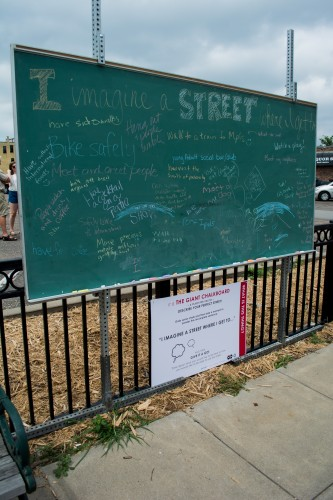 Dozens of people shared what they want to see in a street. / Credit: James Warden