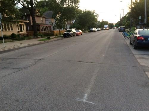 No bike lane at Bryant.