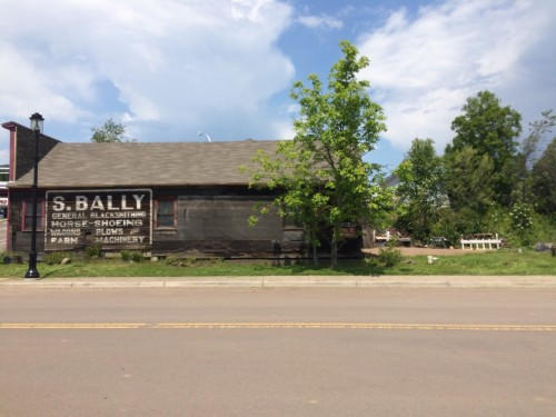 S. Bally General Blacksmithing. Horse-Shoeing Wagons Plows and Farm Machinery