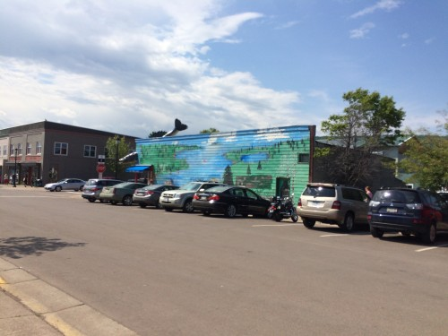 Free Parking is copious in Grand Marais