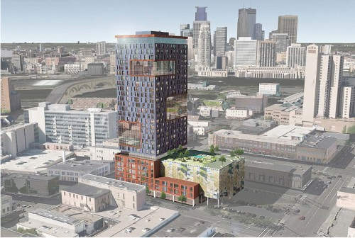 333 Hennepin. Please name this Portal Tower, or even better, Cake Tower. Source - Minneapolis Planning documents