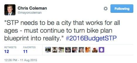 mayor-coleman-tweet-bikes
