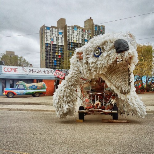 Polar bear vehicle.