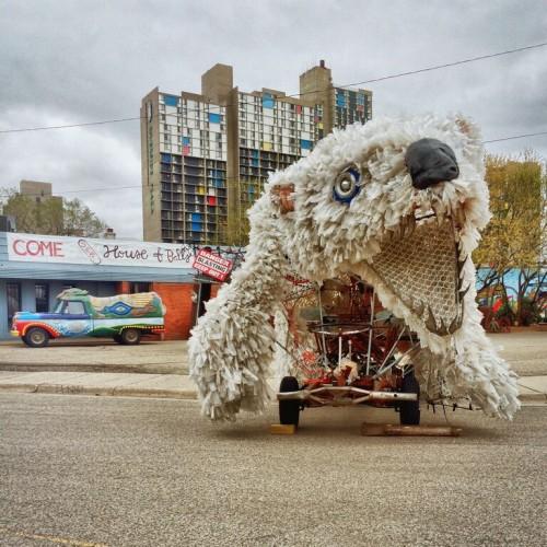 Polar bear vehicle.