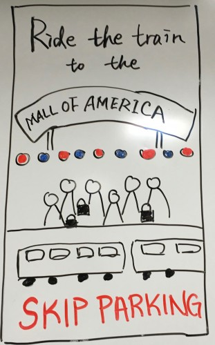Ride the train to Mall of America