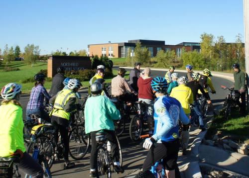 Steve Clark and Northfielders consider how to make the Middle School bike-friendlier