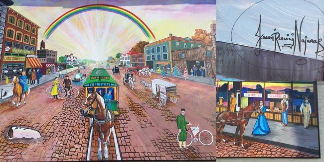 Horses on Lake Street mural