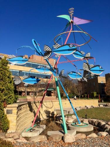 Fish carousel sculpture