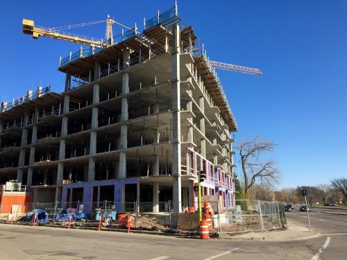 2622 W Lake Street apartment building under construction