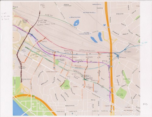 Proposed Prospect Park North Street Network.