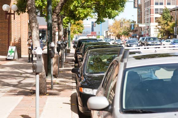 Denver's Baker neighborhood is one of the city's fastest-growing, which has led to parking headaches. Photo by Kara Pearson Gwinn.