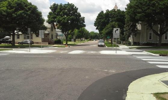 charles avenue bike boulevard crossing