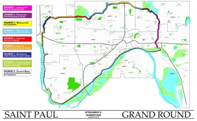 Map of St. Paul Grand Round