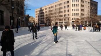 The rink outside the Landmark Center in Saint Paul.