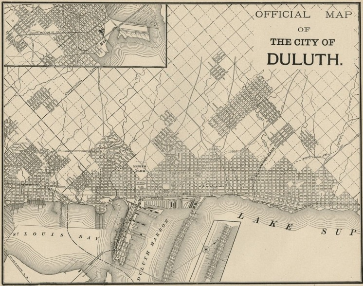 Map Monday: Duluth c. 1887 | streets.mn on