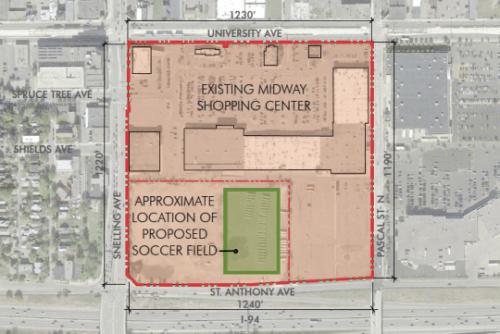 soccer stadium site plan