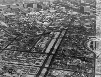 olson highway aerial view 1952