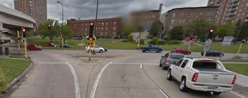 Traffic lights can visually indicate where traffic should stop