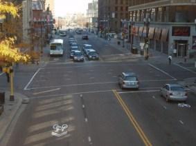 Hennepin Avenue downtown today (Snak Shak Flickr)