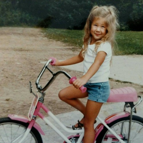 Dana DeMaster on her first bike