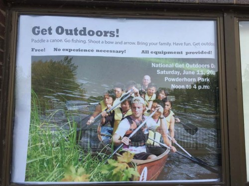 Get Outdoors poster at Powderhorn Park