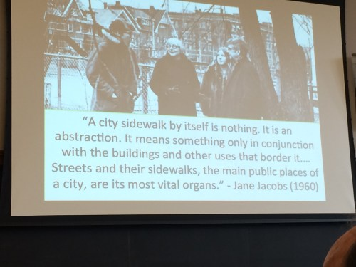 image of slide of Jane Jacobs plus quote
