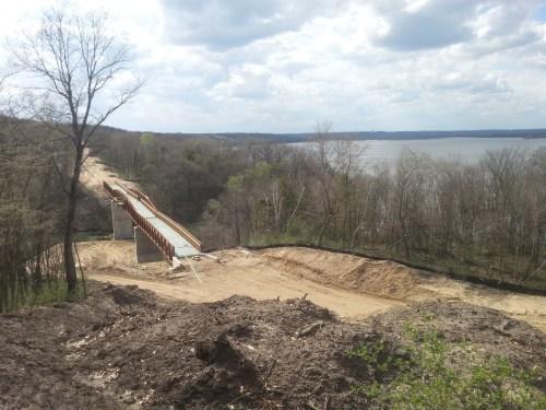 Mississippi River Regional Trail under construction in Spring Lake Park Reserve.