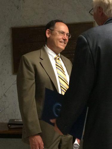 Photograph of retiring Minneapolis Public Works director Steve Kottke