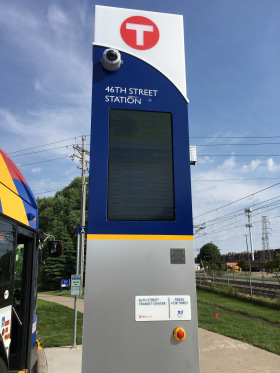 A Line Information Pylon