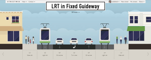 How a full-blown LRT implementation might look, as per the Riverview Pre-Project Development Study (April 2016).
