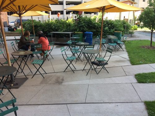 Community Garden and Café in Downtown Detroit. Who'd a Thunk?