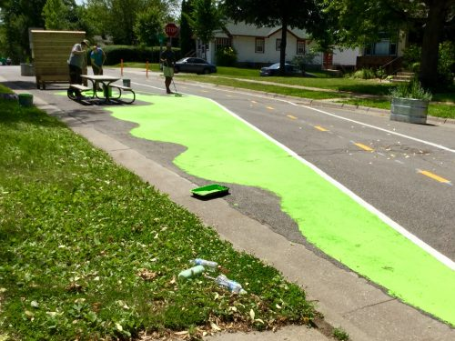 Painting the Greenway green