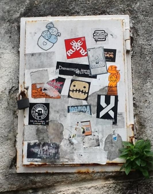 Random Stickers in Santiago Spain