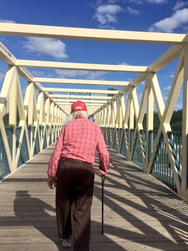 96-year old Tank takes a walk