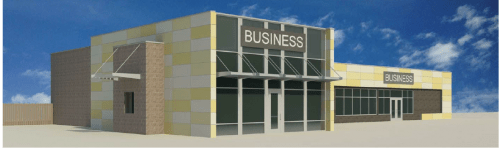 Proposed renovation/expansion of the strip mall
