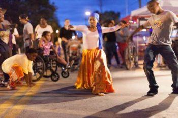 Dance at bridge celebration