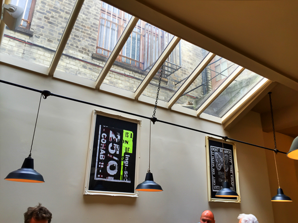 Bonus. A coffee café. This doesn't provide a connection to the street so it doesn't fill the social aspects but it does provide some much appreciated sunlight for people in the back of the place.