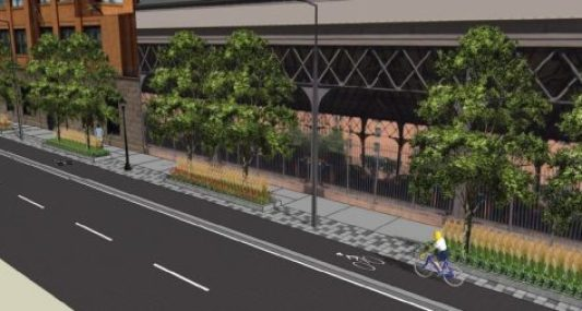 A rendering of Washington Ave between Hennepin and 5th St.