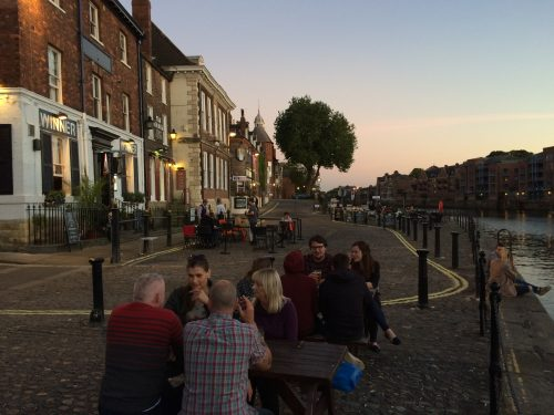 Sunset at the King's Arms in York, on the River Ouse