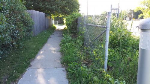 Path Between Two Fences, Connecting Xerxes Avenue to an Alley That Connects to 62nd Street