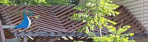 Zig-Zag Slats on the Large Pergola