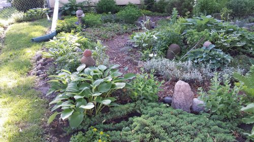 Garden with Stacked Stones on McKinley at 27th Avenue