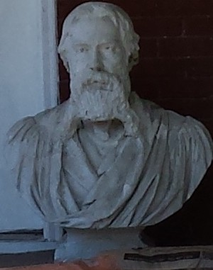 Detail of the Bust of a Bearded Guy