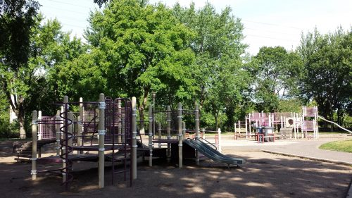 Play Structures at Bottineau Field Park