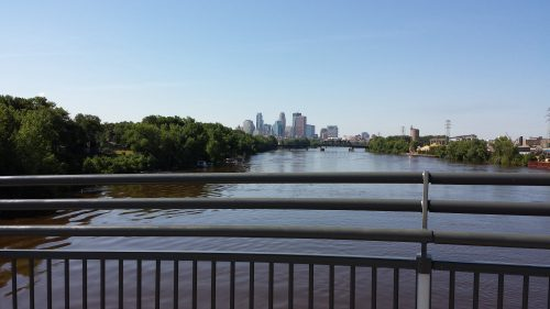 View from the Lowry Avenue Bridge