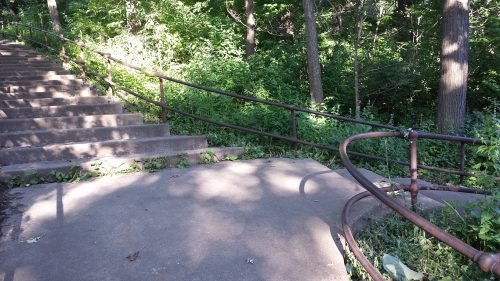 Two Stairs Diverged in a Green Wood (in Deming Heights Park)