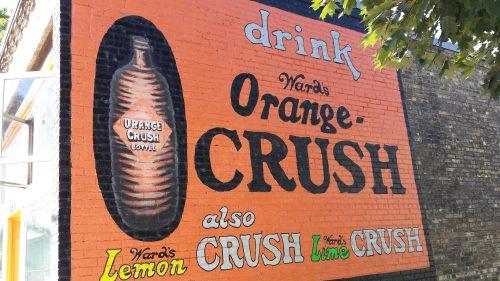 Restored Ad for Ward's Orange Crush