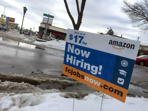 Amazon on Snelling Avenue (Photo: Matty Lang.)
