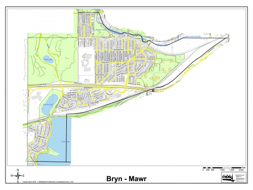 The City of Minneapolis's Map of the Bryn Mawr Neighborhood